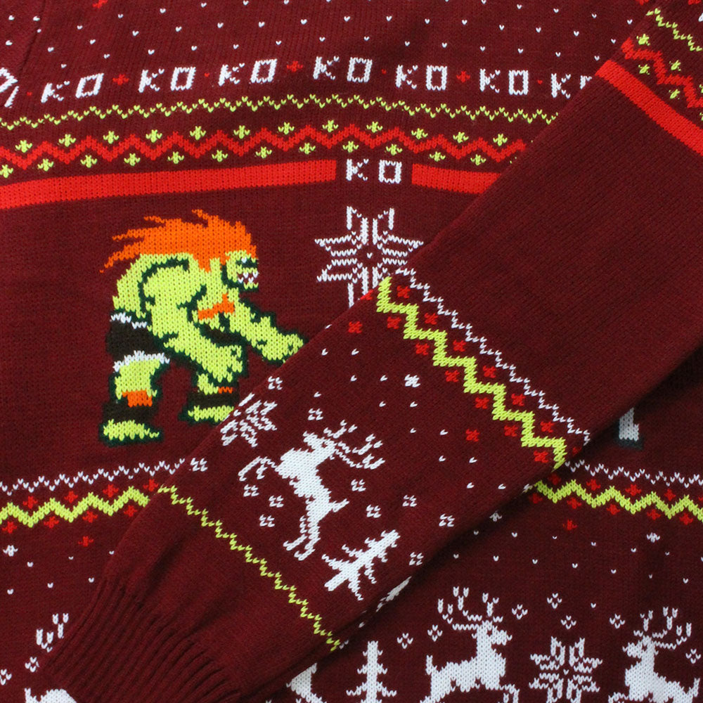 Official Street Fighter Blanka vs Bison Christmas Jumper / Ugly Sweater
