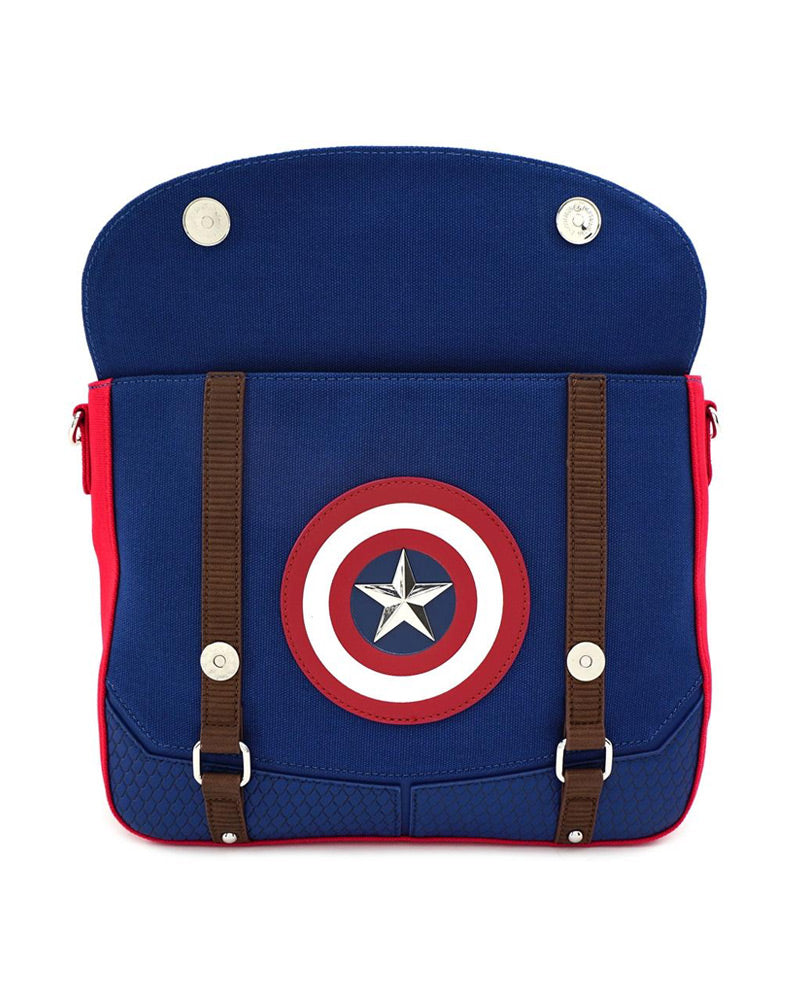 Loungefly Marvel Captain America End Game Hero Canvas Messenger Bag