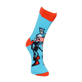 Official Marvel Captain America Red and Blue Socks