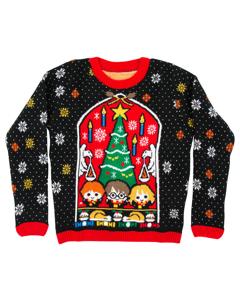 Official Harry Potter Great Hall Kids Christmas Jumper / Ugly Sweater