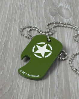Official Call of Duty Dog Tag Bottle Opener