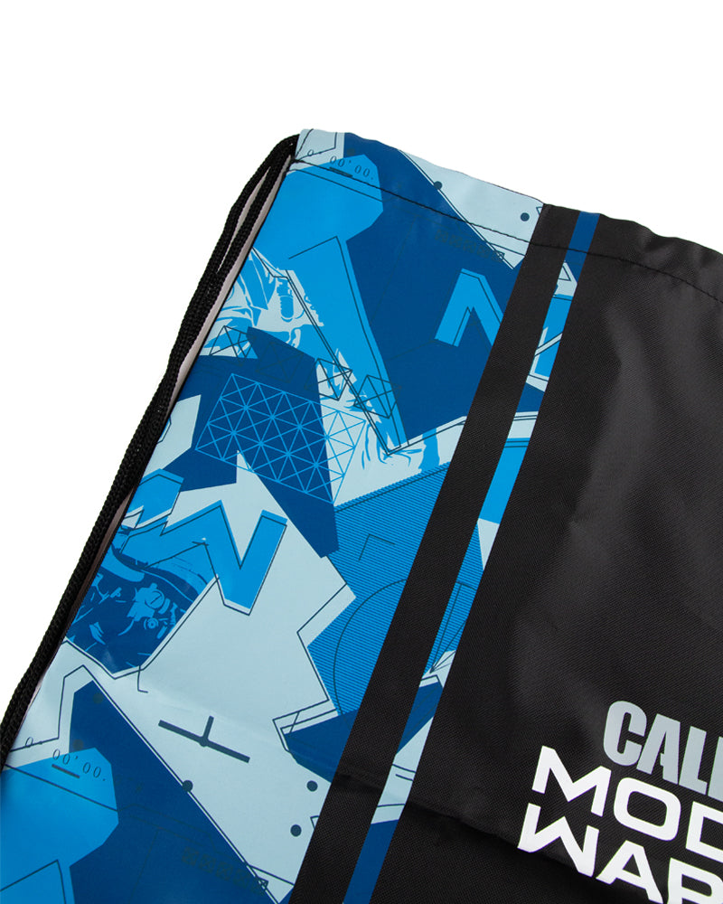 Official Call of Duty Modern Warfare Blue Camo Drawstring Bag