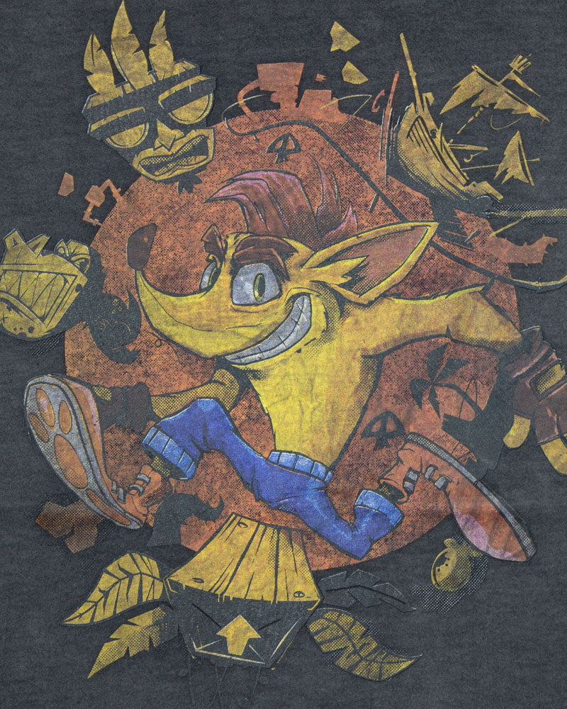 Official Crash Bandicoot Crash Oil Wash T-Shirt