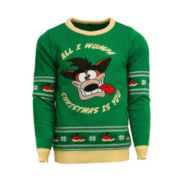 Official Crash Bandicoot Christmas Jumper / Ugly Sweater