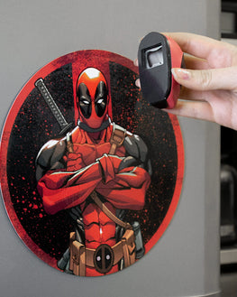 Official Marvel Deadpool Fridge Magnet Bottle Opener