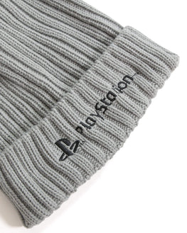 Official Playstation Silver Beanie & Scarf Gift Set