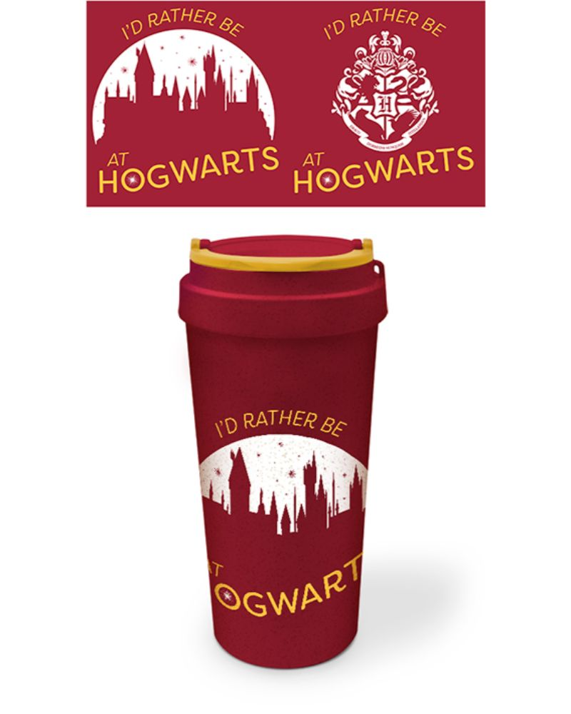 Official Harry Potter 'Rather be at Hogwarts' Travel Mug