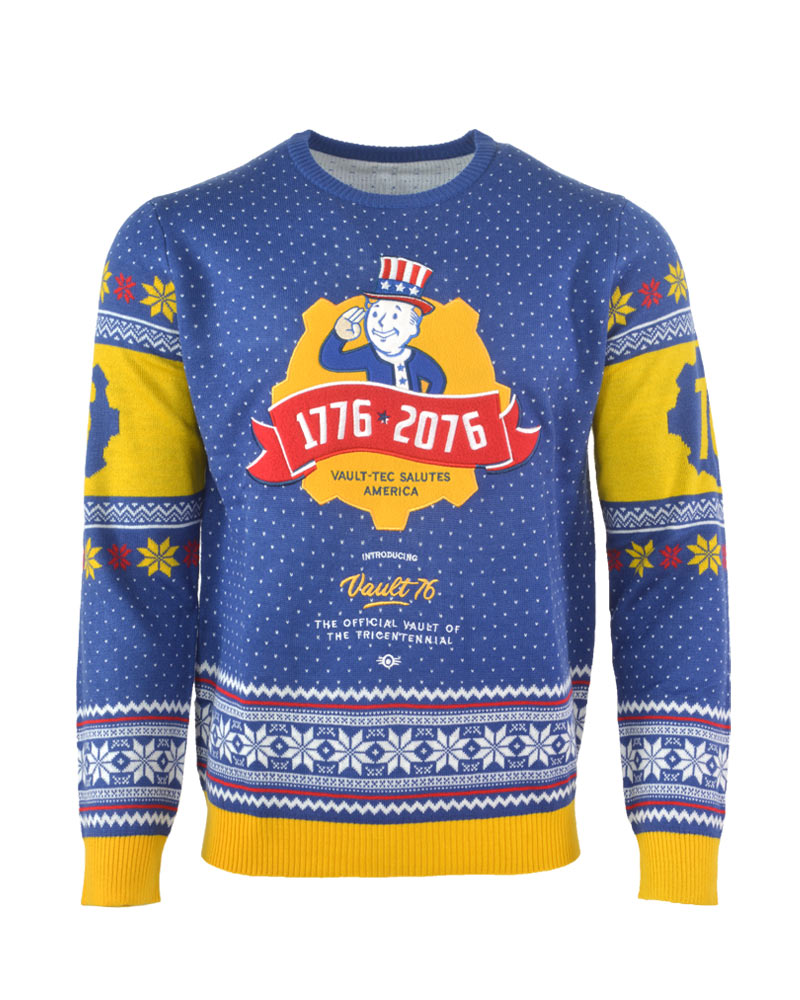 d0ee6644 Official Fallout 76 Christmas Jumper / Ugly Sweater – Geek Store US