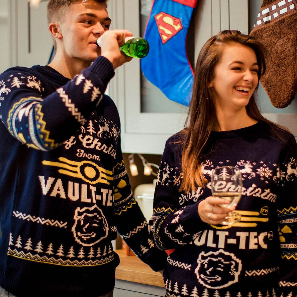 Official Fallout 4 Vault Tec Christmas Jumper / Ugly Sweater – Geekstore