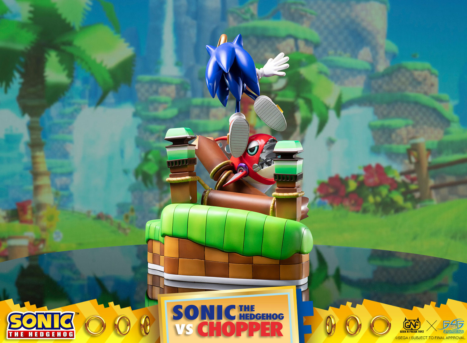 Official Sonic the Hedgehog Figure - Sonic Vs. Chopper Diorama