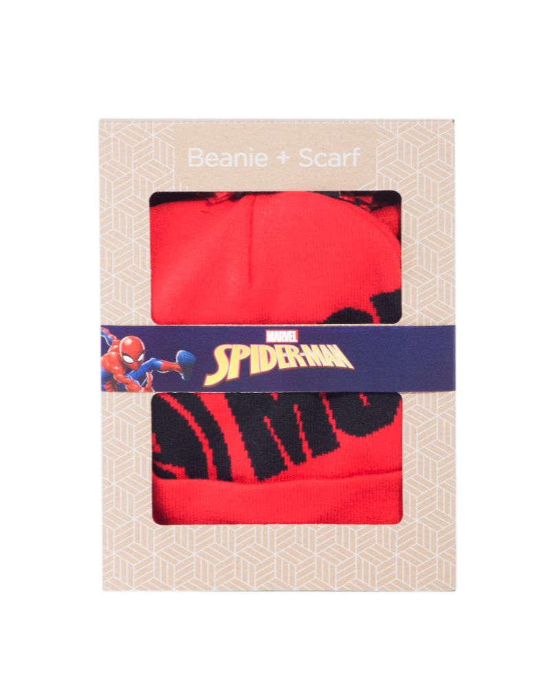 Official Spider-Man Beanie & Scarf Gift Set