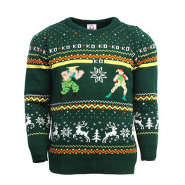 Official Street Fighter Guile vs Cammy Christmas Jumper / Ugly Sweater