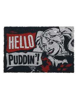 Official DC Comics Harley Quinn Hello Puddin Door Mat / Floor Mat