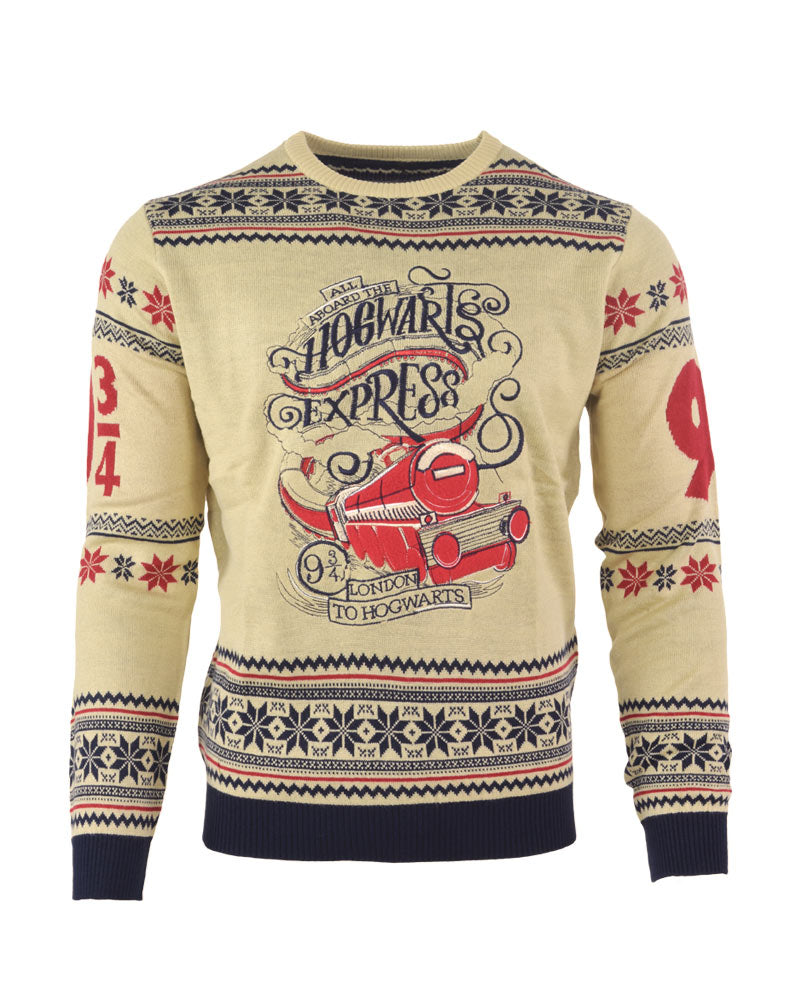 2020 Geek Knitted Christmas Sweaters Official Harry Potter Hogwarts Express Christmas Jumper / Ugly