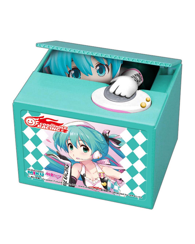 Official Hatsune Miku Talking Coin Money Bank Racing Miku 001