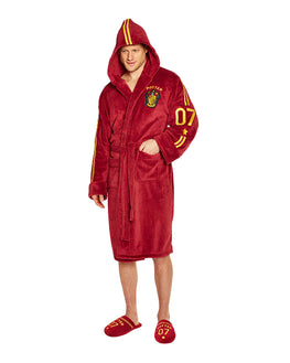Official Harry Potter Quidditch Mens Dressing Gown / Bathrobe