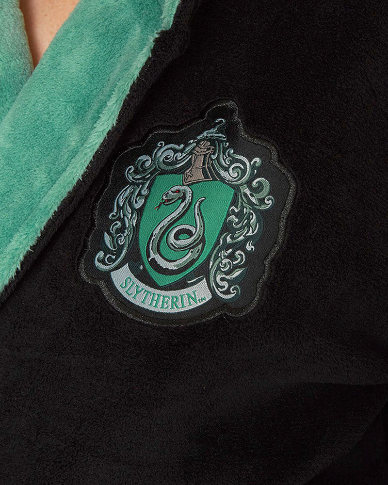 Official Harry Potter Slytherin Women's Bathrobe/Dressing Gown with Hood
