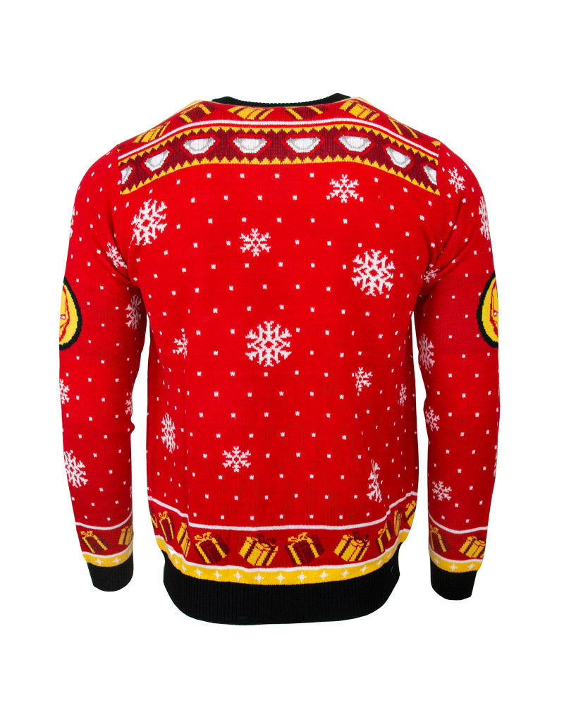 Official Marvel Iron Man Stark Tower Christmas Jumper / Ugly Sweater