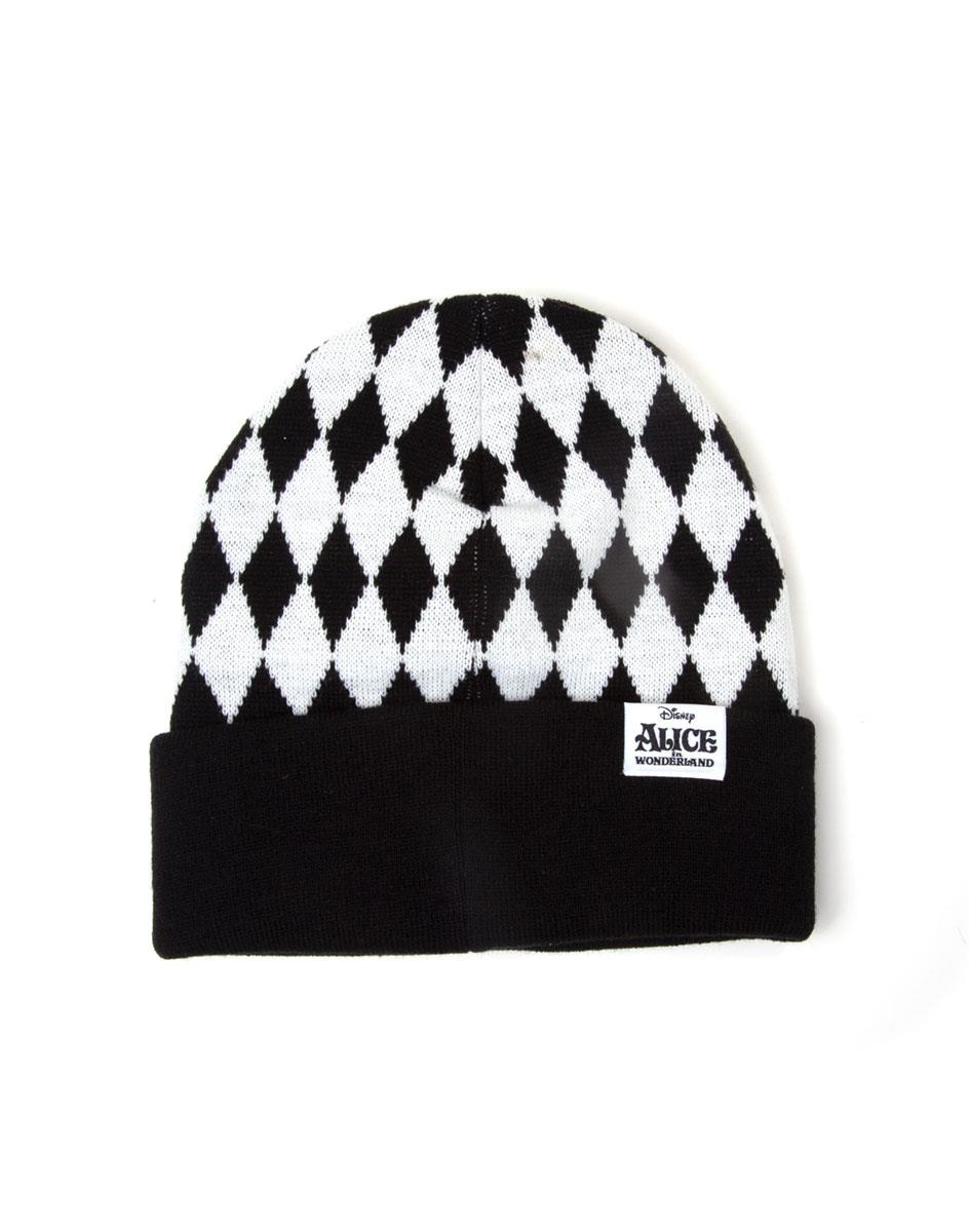 Official Disney Alice In Wonderland Checkered Beanie