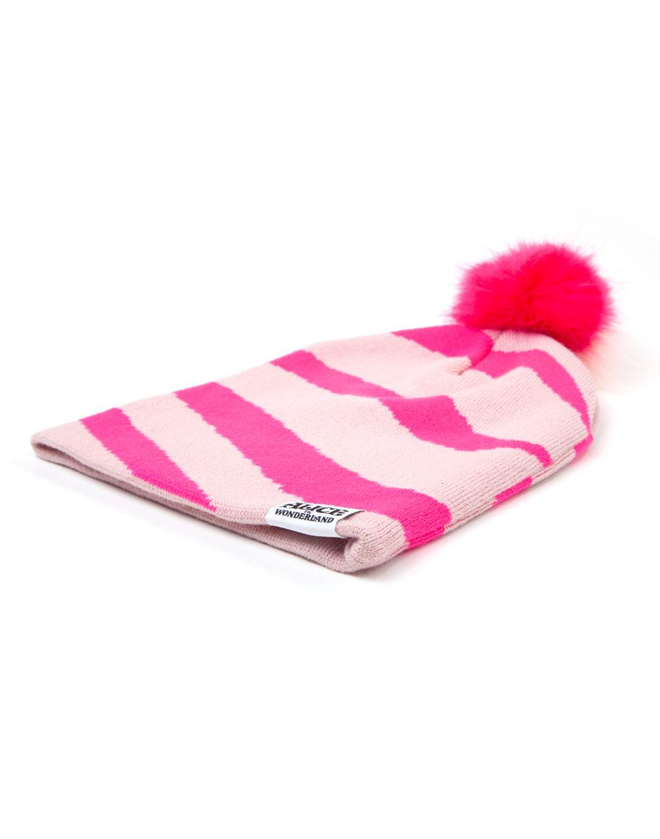 Official Disney Alice In Wonderland Beanie With Pom-Pom