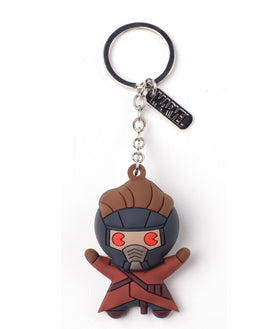 Official Marvel Guardians of the Galaxy Peter Quill 3D Rubber Keyring / Keychain