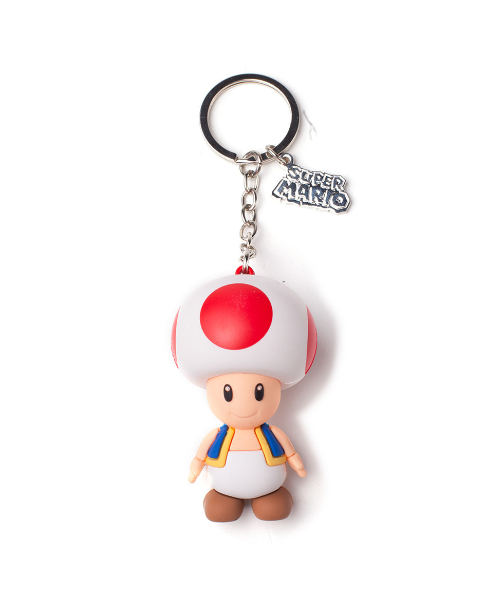 Official Nintendo 3D Toad Keychain / Keyring - Damaged Retail Packaging