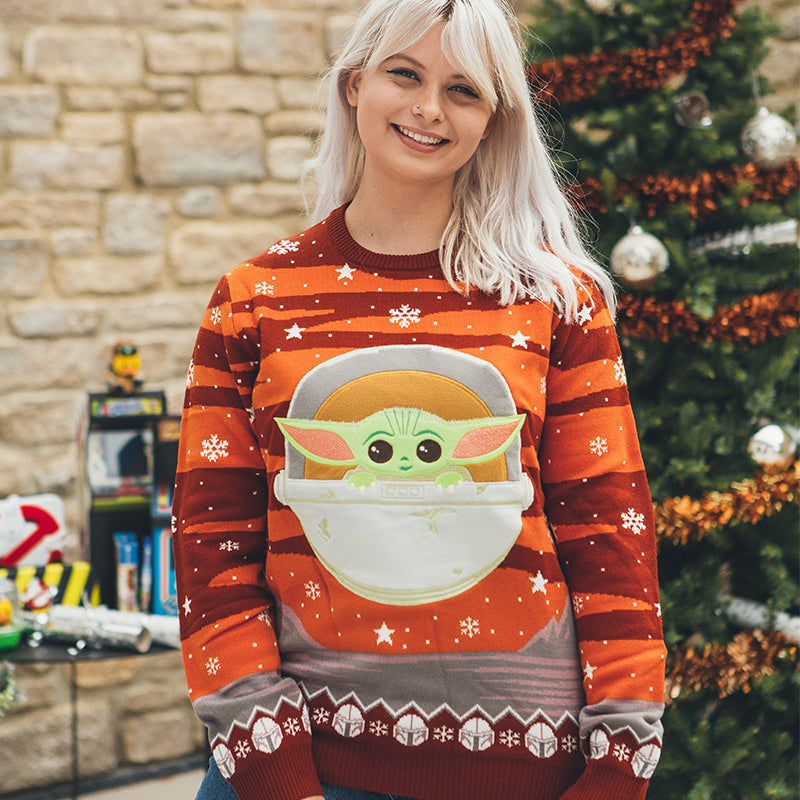 Official Star Wars The Mandalorian The Child / Baby Yoda Christmas Jumper / Ugly Sweater