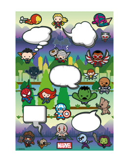Official Marvel Kawaii Fridge Magnet Set