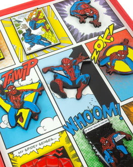 Official Marvel Spider-Man Retro Pin Badge Set