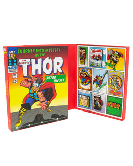 Official Marvel Thor Retro Pin Badge Set