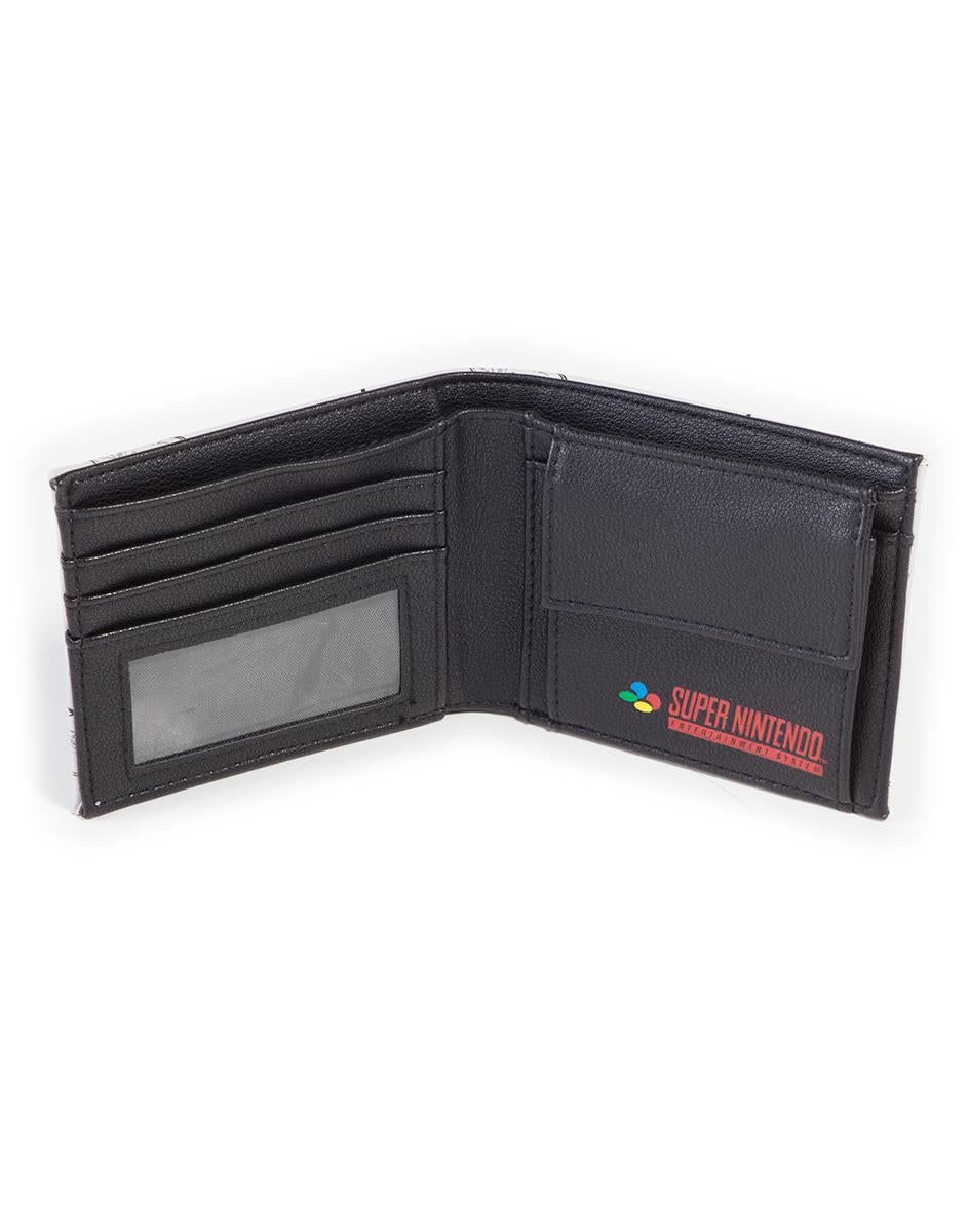 Official SNES Controller All Over Print Bifold Wallet With Rubber Patch