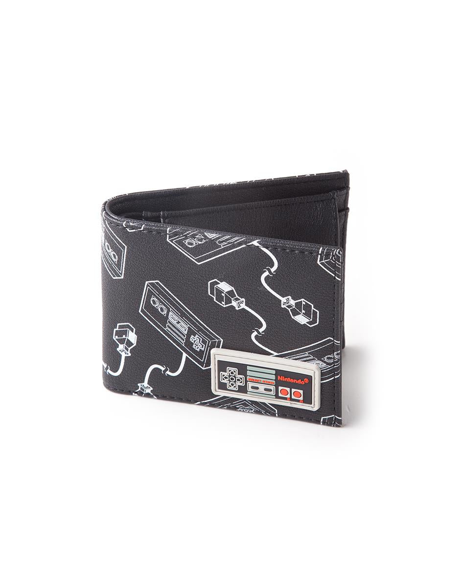 Official NES Controller All Over Print Bifold Wallet With Rubber Patch