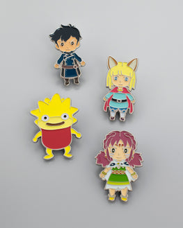 Official Ni No Kuni II Character Magnet Four Pack Set