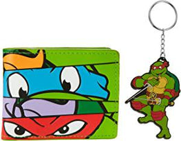 Official Turtles Wallet and Keychain Gift Set