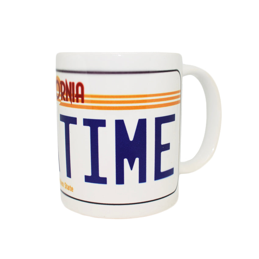 Official Back To The Future OUTATIME Licence Plate Mug