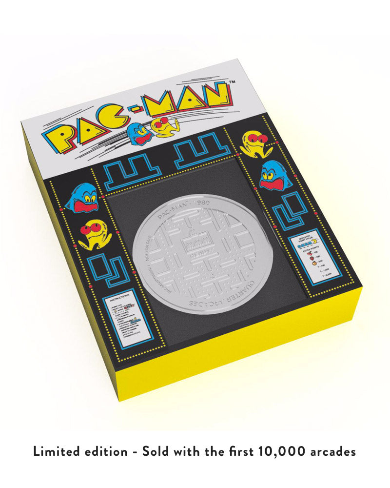 Official Pac-Man Quarter Size Arcade Cabinet