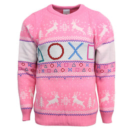 Official Playstation Pink Christmas Jumper / Ugly Sweater