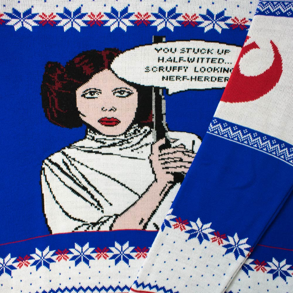 Official Star Wars Princess Leia Christmas Jumper / Ugly Sweater