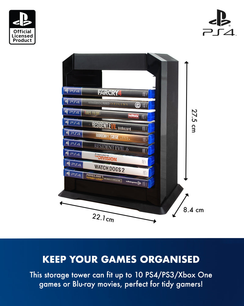 Official Sony PlayStation 4 PS4 Premium Game Storage Tower