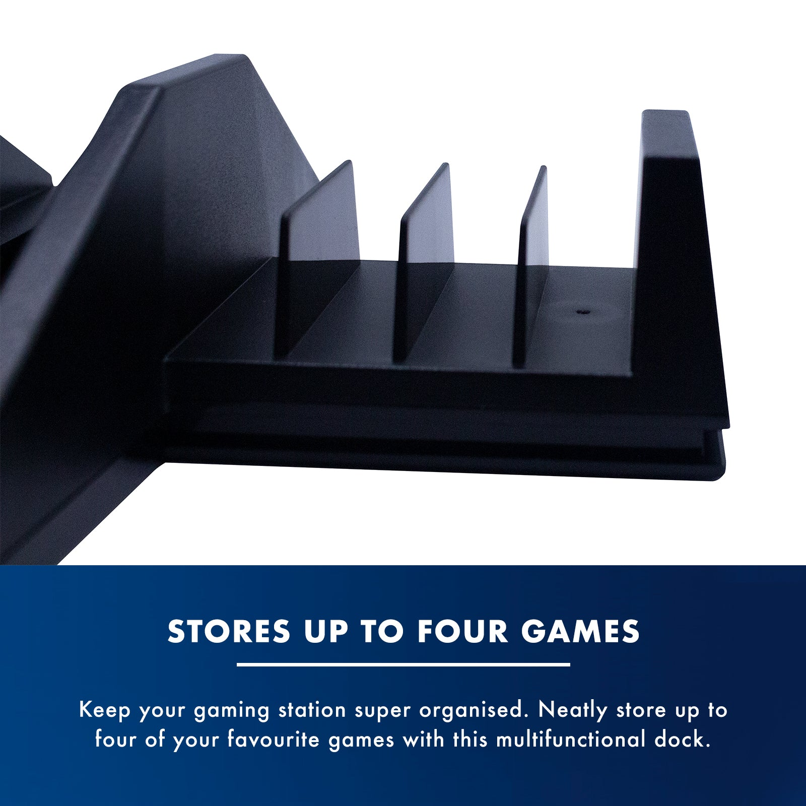 Numskull PlayStation PS4 Multi-Function 5 in 1 Docking Station / Console Stand