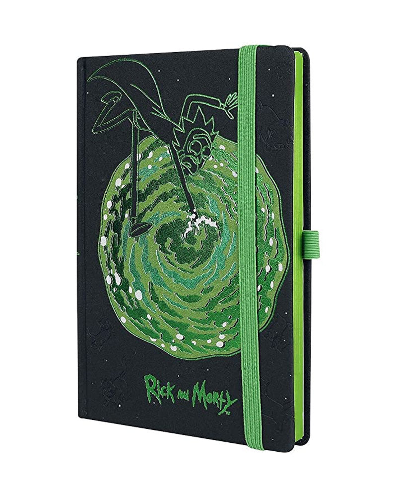 Official Rick and Morty Portals A5 Notebook
