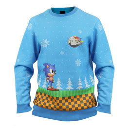 Official Sonic Green Hill Zone Christmas Jumper / Ugly Sweater