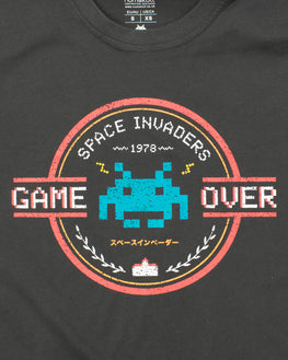 Official Space Invaders Game Over T-Shirt