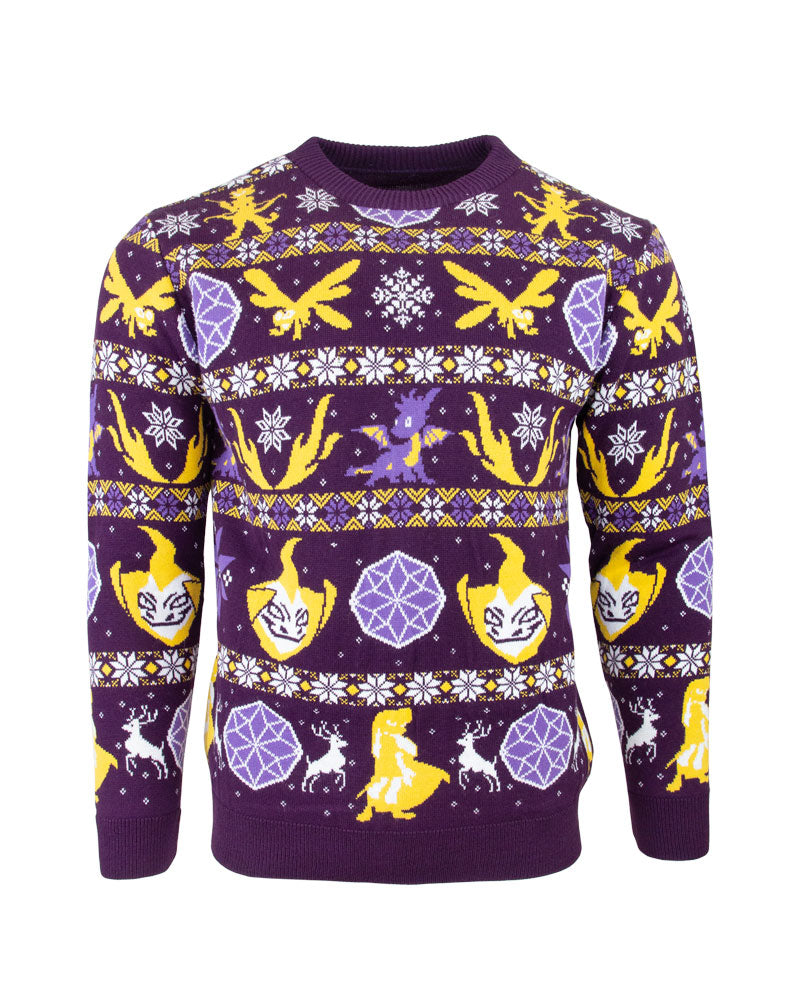 Official Spyro the Dragon Fairisle Ugly Christmas Sweater