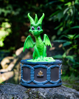 Official Spyro the Dragon Green Incense Burner Figure / Figurine - Limited Edition