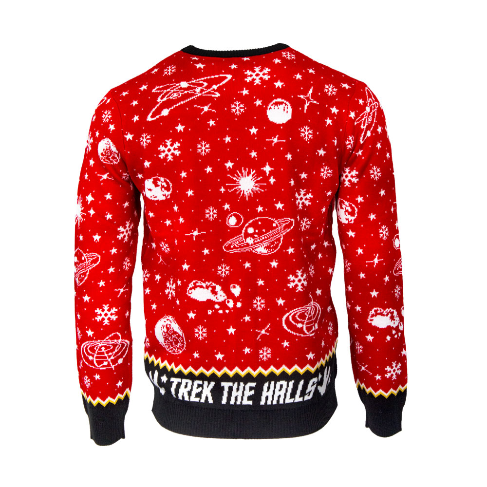 Official Star Trek 'Beam Me Up, Santa!' Christmas Jumper / Ugly Sweater