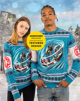 Official Star Wars AT-AT Battle of Hoth Ugly Christmas Sweater