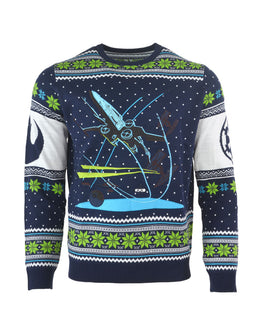 Official Star Wars X-Wing Battle of Yavin Ugly Christmas Sweater
