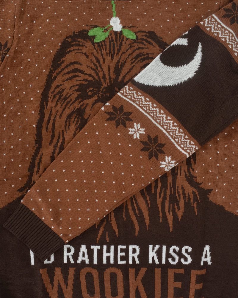 Official Star Wars Kiss a Wookie Christmas Jumper / Ugly Sweater