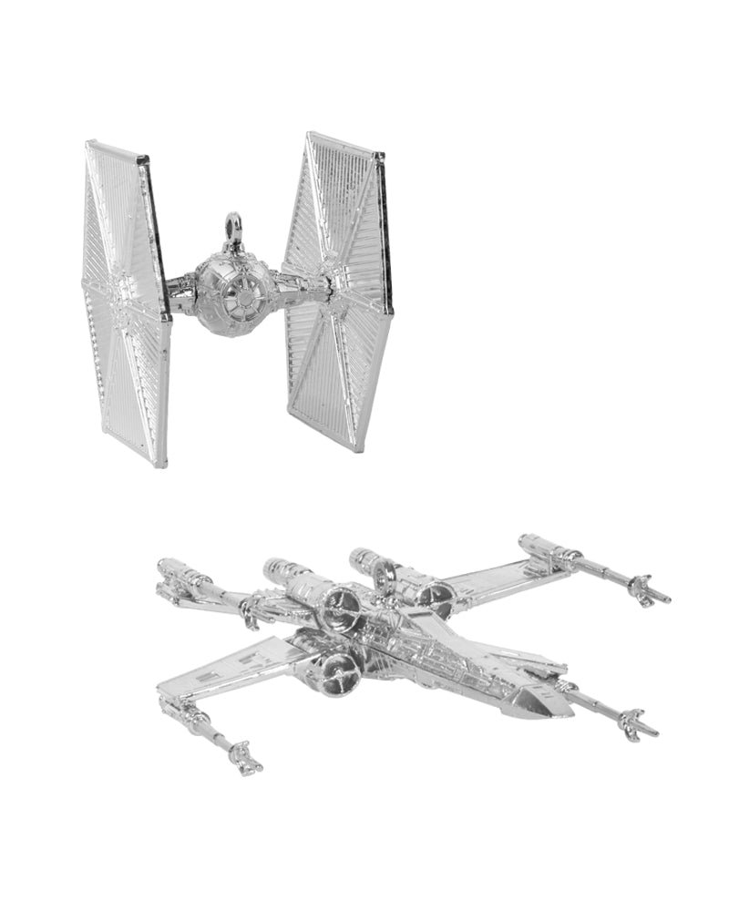Official Star Wars Christmas Tree Decorations / Ornaments (Silver)
